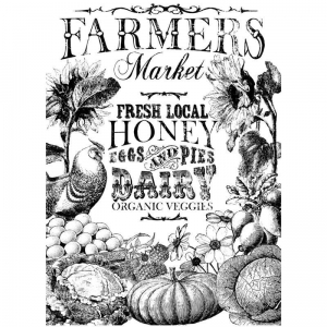 "TRANSFER  - IOD Decor Transfers ""Farmers Market"""