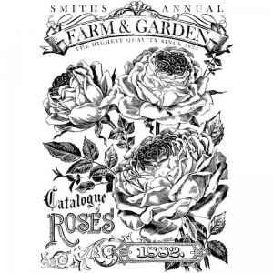 "TRANSFER  - IOD Decor Transfers ""Catalogue of Roses"""