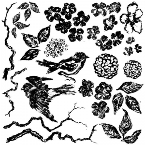 DECOR STEMPEL DUŻY- Birds-branches-blossoms