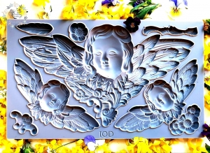FORMA DO GLINKI VINTAGE - Cherubs IOD MOULD