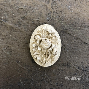 WoodUbend Kwiatowa Tablica Flower Plaque  3,5 x 2,5 cm