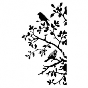 Szablon Birds and Branches - 21cm x 30 cm - Posh Chalk